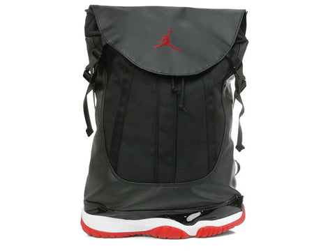 Jordan 11 Bred Black and Red Backpack