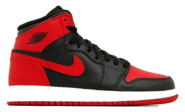 Air Jordan 1 High OG Bred Black Red and White (GS) - Sole Alley
