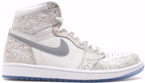 Air Jordan 1 High OG Laser White Ice Blue Gray - Sole Alley