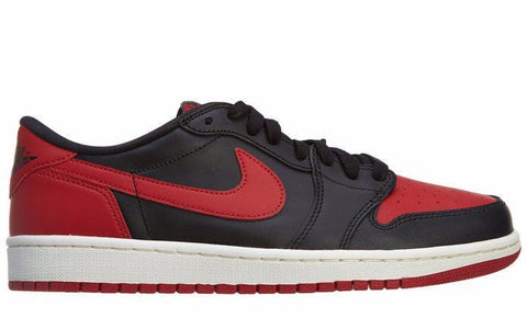 Air Jordan 1 Low OG Bred Black Red White - Sole Alley