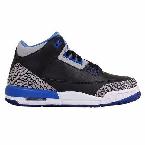 Jordan 3 Retro Black Sport Blue (GS) - Sole Alley