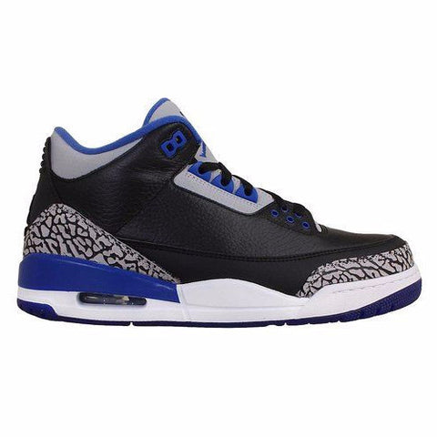 Jordan 3 Retro Black Sport Blue - Sole Alley
