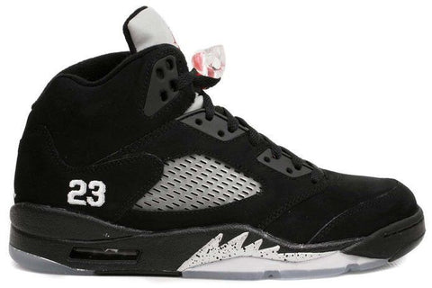 Jordan 5 Black Metallic Silver Retro - Sole Alley