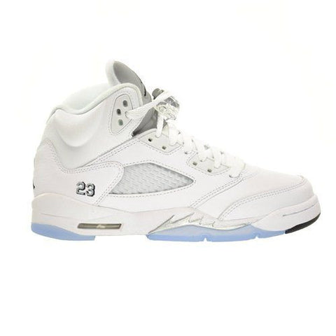 Jordan 5 Retro White Metallic Silver (GS) - Sole Alley