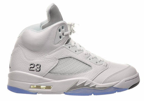 Jordan 5 Retro White Metallic Silver - Sole Alley