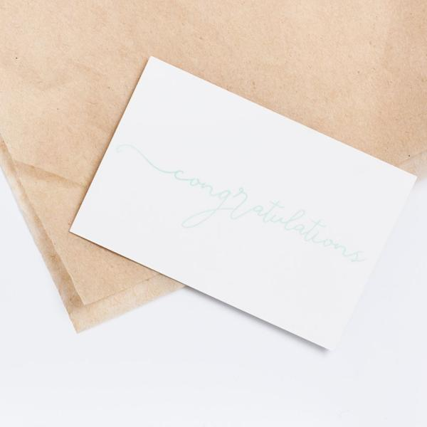 'congratulations' gift giving card - Numpfer