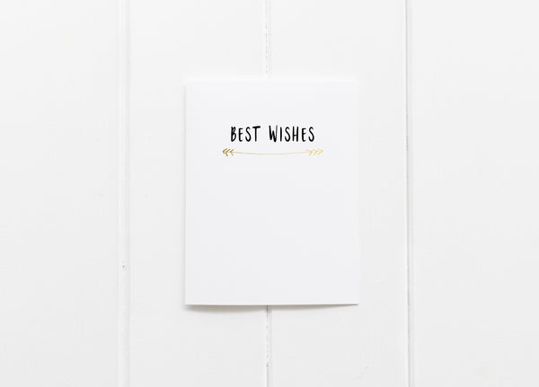 Best Wishes Gold Foil Greeting Card