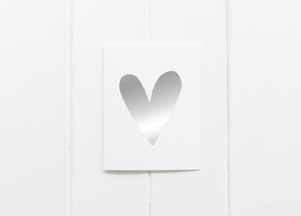 Heart Silver Foil Greeting Card