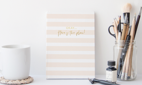 'Okay... Here's the plan!' Gold Foil Notebook
