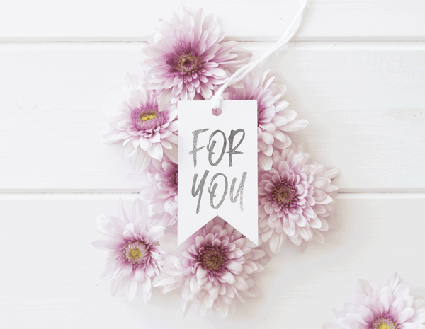 Silver Foil 'For You' Gift Tags
