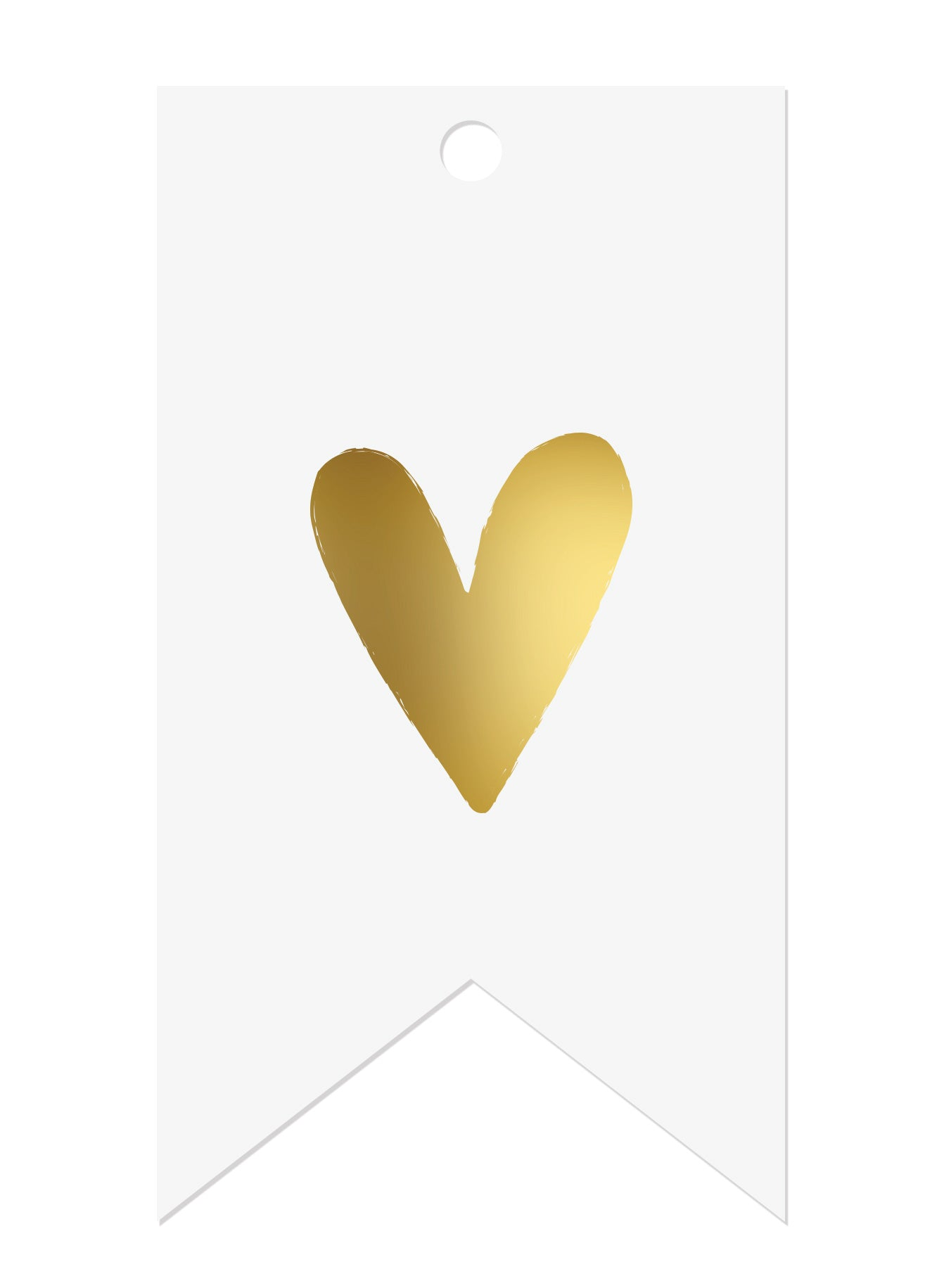 Heart Gold Foil Gift Tags