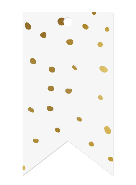 Spots Gold Foil Gift Tags