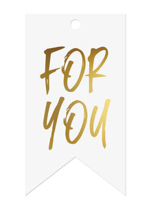 Gold Foil 'For You' Gift Tags