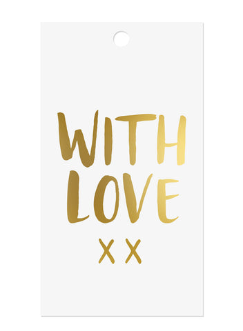 Gold Foil 'With Love' Gift Tags