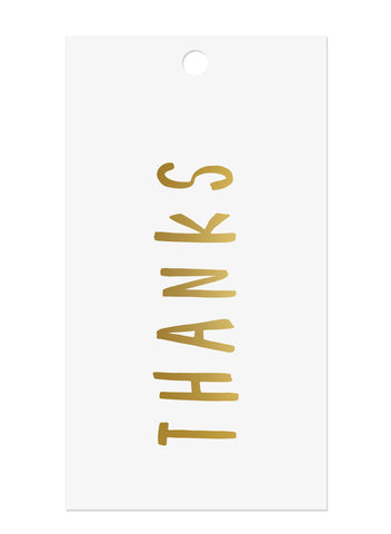 'Thanks' Gold Foil Tags