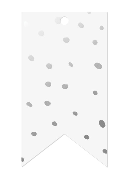 Spots Silver Foil Gift Tags