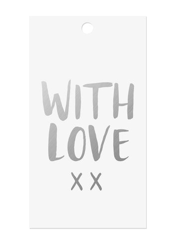 Silver Foil 'With Love' Gift Tags