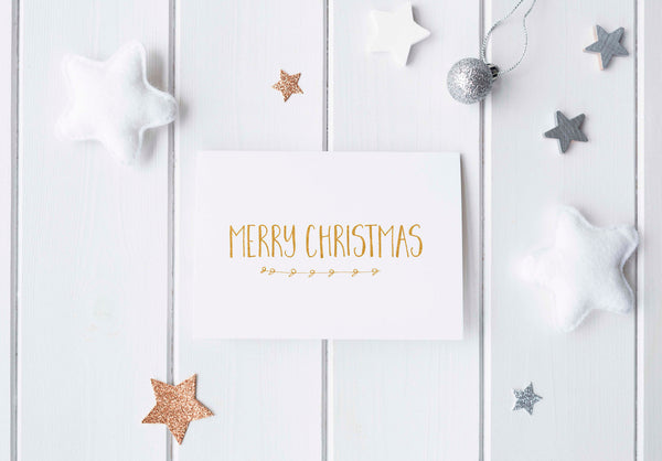 'Merry Christmas' Gold Foil Greeting Card