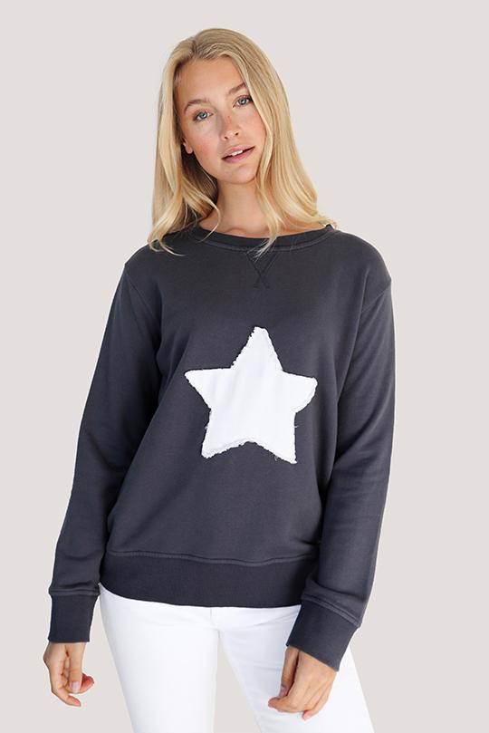 Bright Plaid Star Cotton Windy - Coal