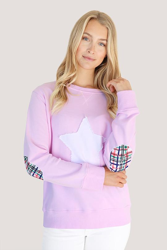 Bright Plaid Star Cotton Windy - Powder Pink