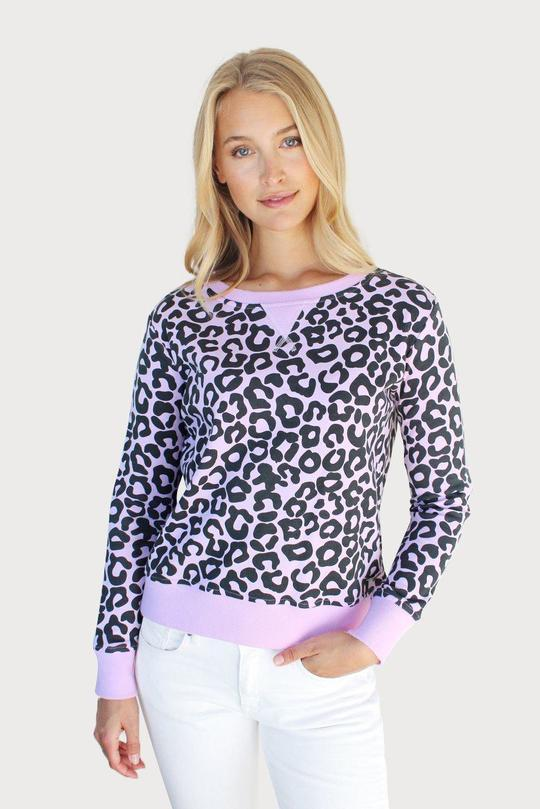 Denim Leopard Cotton Windy - Powder Pink