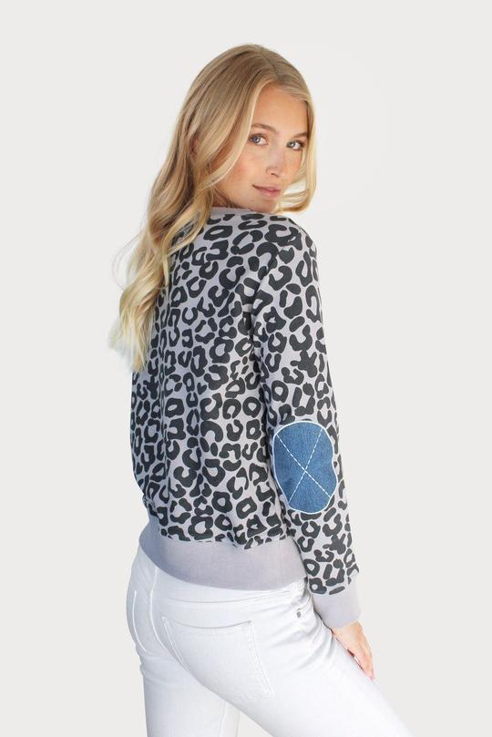Denim Leopard Cotton Windy - French Grey