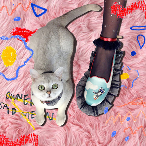 supersweet, super sweet, pastel, fashion, style, art, photo shoot, editorial, layout, ss16, wish you were here, bangkok, thai girls, collage, photostory, pastels, ombre, gradient, rainbow, unicorn, cat, cats, cat print, crazy cat lady, meow, frillys, frilly wedge, anklet, shoes, footwear, cat lover, colorful, metallic leather, legs, long legs, sexy legs, purrple label, elton, tights, crystal studded, navy, myogi, pink fur