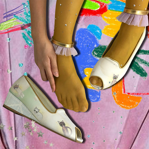 supersweet, super sweet, pastel, fashion, style, art, photo shoot, editorial, layout, ss16, wish you were here, bangkok, thai girls, collage, photostory, pastels, ombre, gradient, rainbow, unicorn, cat, cats, cat print, crazy cat lady, meow, frillys, frilly wedge, anklet, shoes, footwear, cat lover, colorful, metallic leather, legs, long legs, sexy legs, purrple label, nymph, gold leather, glitter tulle, tights, crystal studded, mustard, yellow, antique frame, angelic cats, cat angels