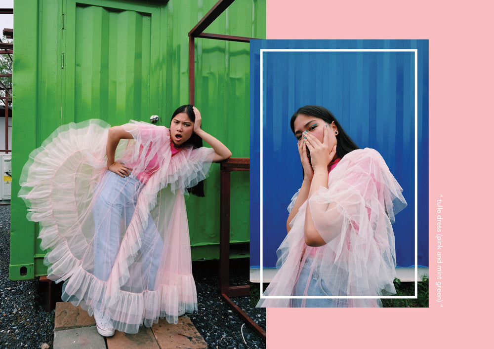 supersweet, super sweet, moumi, team moumi, meow, fashion, style, editorial, industrial, colorful, colourful, rebellious hearts, plern, peeraya pechpansri, tulle dress, pink, frou frou, grunge, tulle, dress, glitter, fairy