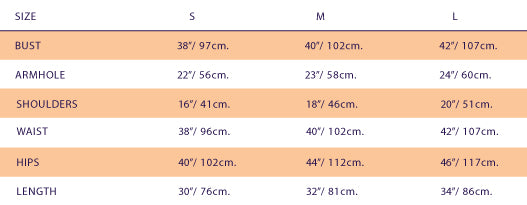 Size Chart For Ivanahelsinki Mae Dress