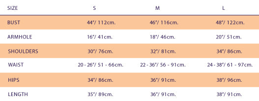 Size Chart For Ivanahelsinki Pearl Dress