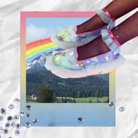 supersweet, super sweet, pastel, fashion, style, art, photo shoot, editorial, layout, ss16, wish you were here, bangkok, thai girls, collage, photostory, pastels, ombre, gradient, rainbow, unicorn, cat, cats, cat print, crazy cat lady, meow, frillys, frilly wedge, anklet, shoes, footwear, cat lover, colorful, metallic leather, legs, long legs, sexy legs, purrple label, rio, tights, crystal studded, plum, lilac, lavender, pink, glitter tulle