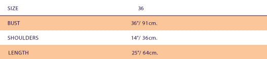 Size Chart For SUPERSWEET x moumi  Babooshka Shirt