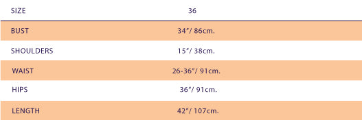 Size Chart For SUPERSWEET x moumi  Silk Thea Onesie