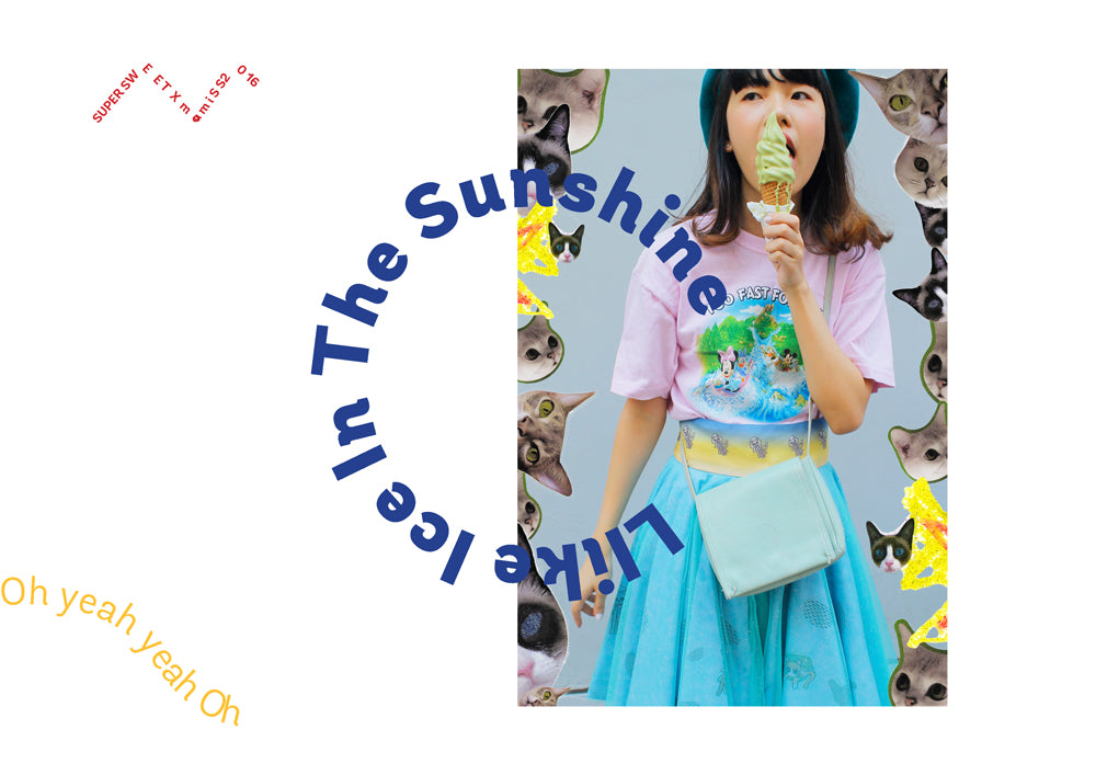 supersweet, super sweet, pastel, fashion, style, art, photo shoot, editorial, layout, ss16, wish you were here, ice cream, bangkok, thai girls