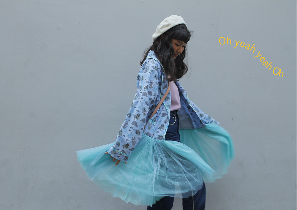 supersweet, super sweet, pastel, fashion, style, art, photo shoot, editorial, layout, ss16, wish you were here, ice cream, bangkok, thai girls, tulle, glitter, valentine jacket