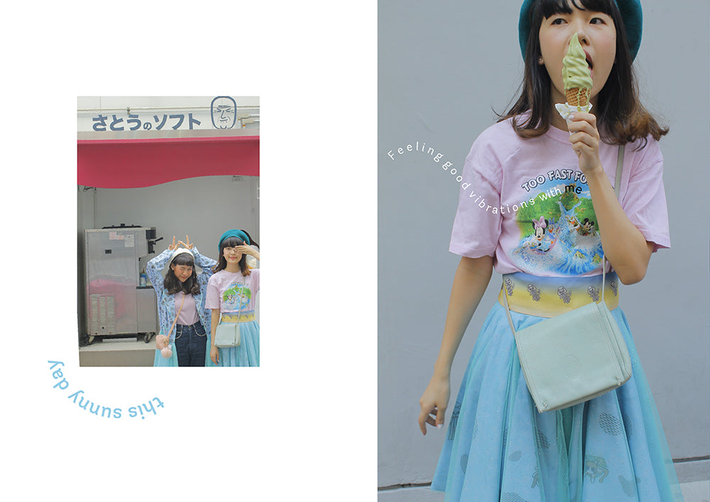 supersweet, super sweet, pastel, fashion, style, art, photo shoot, editorial, layout, ss16, wish you were here, ice cream, bangkok, thai girls, tulle, glitter, ice cream, photo story