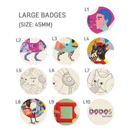 dodos, alphabet, band merch, tote, shopping, pins, buttons, meric long, fabric, digital screen, concert, band, merch, badges