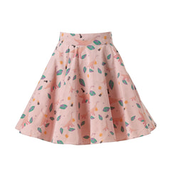 skirt, supersweet, super sweet, moumi, ruffles, frills, flounces, leaf, print, cat print, cat, cats,pink, peach, blush, meow, crazy cat lady, supersweet, super sweet, moumi, designer cats, ss16, fashion, style, sale
