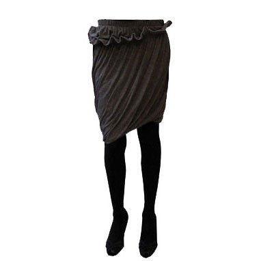 skirt, knitwear, conceptual, grey, dark, ruffles, balloon, slinky, winter, atelier 1, russian, maxi, midi, twist