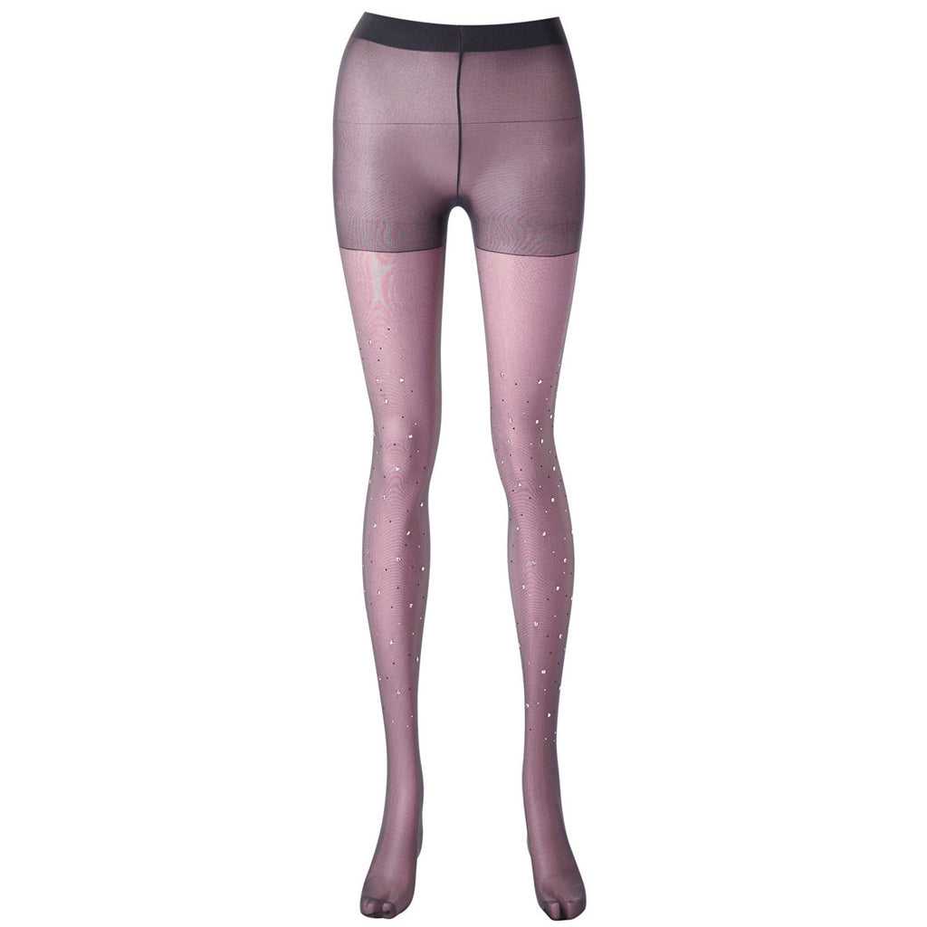 Crystal Tights (Plum)