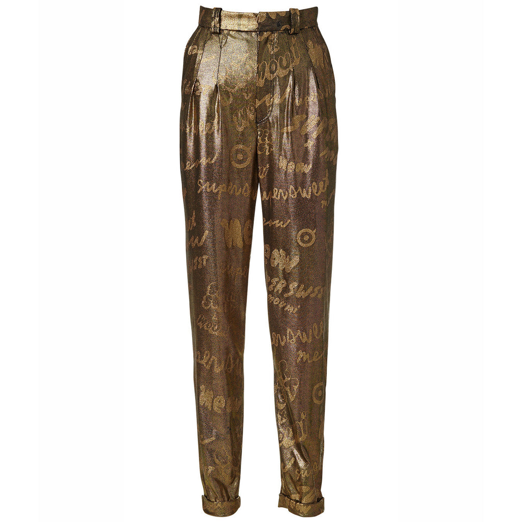 gold, trousers, pants, glitter, pegged, liquid, metallic, shiny, textures, supersweet, moumi