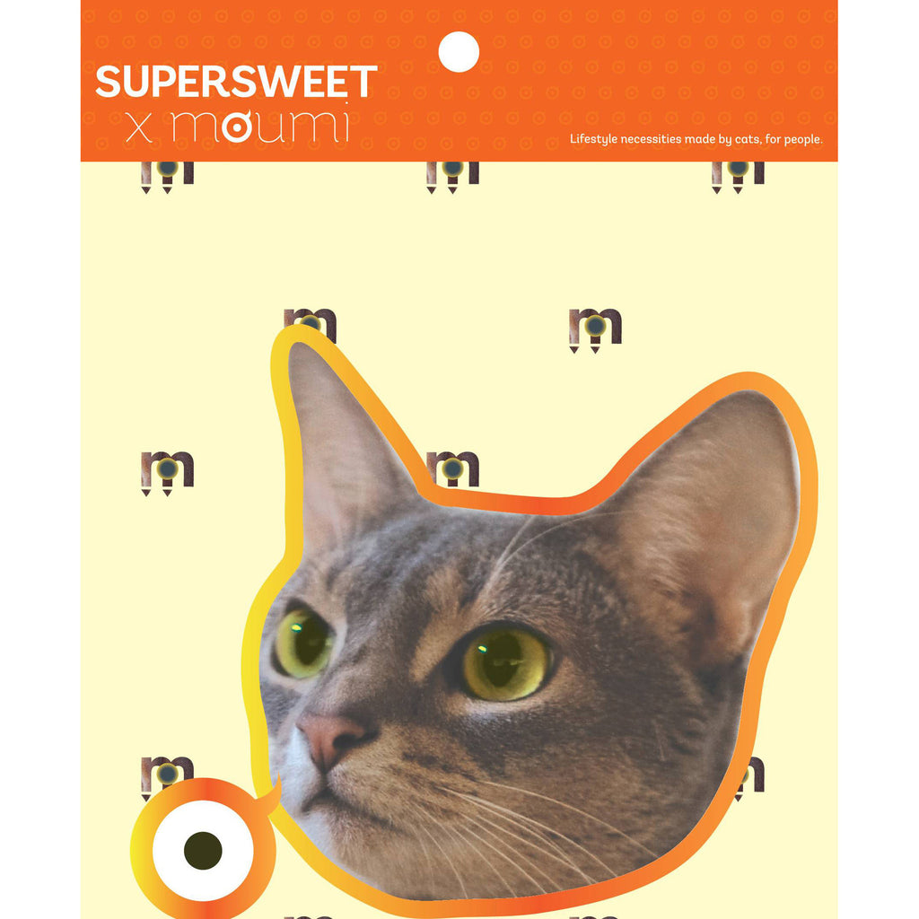 supersweet, moumi, aby, abyssianian, cat, cats, sticker, stickers, cat print, cat stuff, hologram, pvc, glitter sticker, glitter eyes, diy, art, craft, large, big head