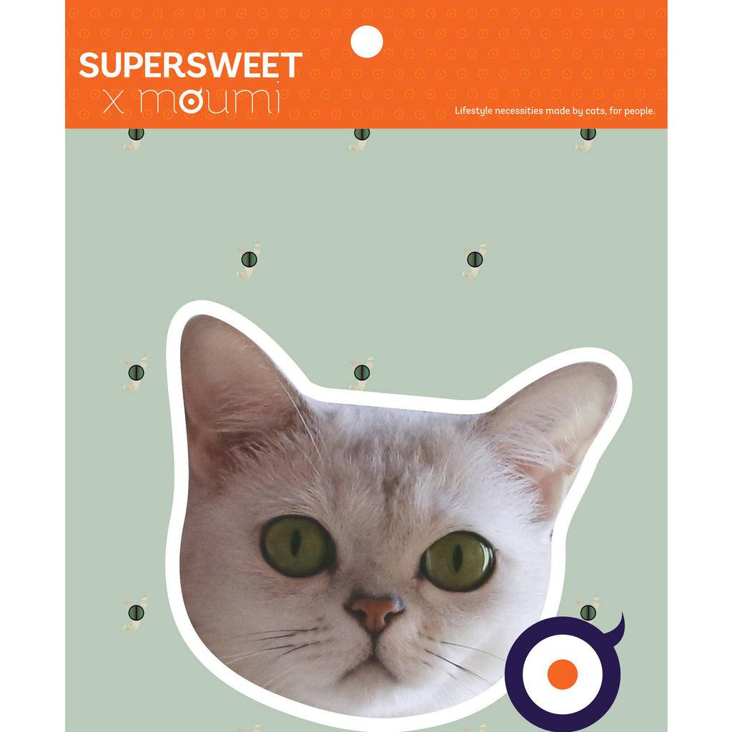 supersweet, moumi, myogi, burmilla, cat, cats, sticker, stickers, cat print, cat stuff, hologram, pvc, glitter sticker, glitter eyes, diy, art, craft, large, big head