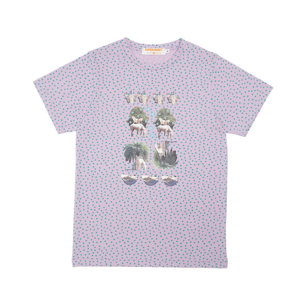 moumi & Friends Green Dotted Tee
