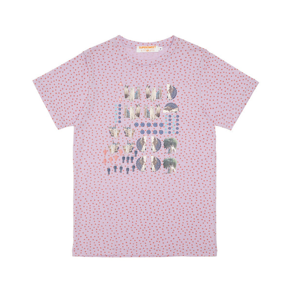 moumi & Friends Pink Dotted Tee