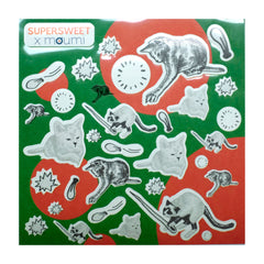 polka dot, dots, red, white, green, balloons, needle, pop, cat, cats, cat print, sticker, stickers, transparent, pvc, stationery, diy, craft, stick, seal, art, supersweet, super sweet, moumi
