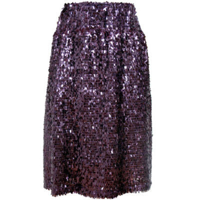 Plum Chain Skirt