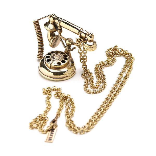 Antique Telephone Necklace