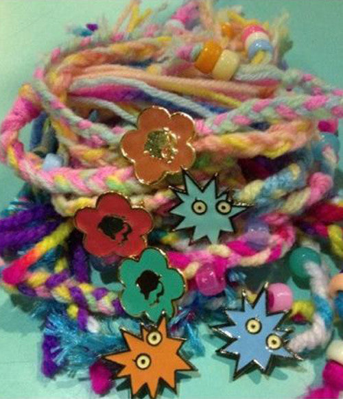vivid colors, warm, yarns, knitted, friendship, bracelets, pack of 4, set, sretsis, supersweet, summer camp, band, concert, collaboration, sale, authentic, genuine, pins, feminine, hippie, bohemian, photoshoot, bulk, still life, fashion, style
